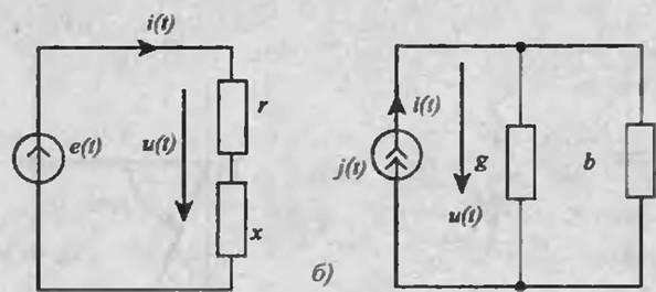 (б) схемы замещения